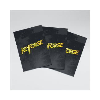 Keyforge Logo Sleeves Matte Black 40 count