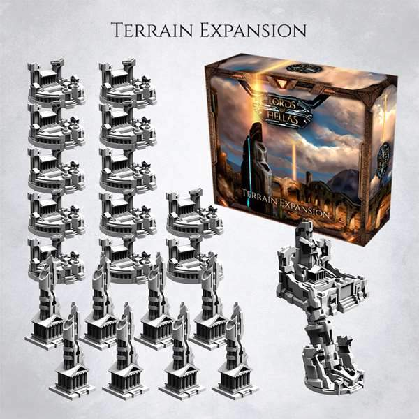 Lords of Hellas Kickstarter board game terrain expansion