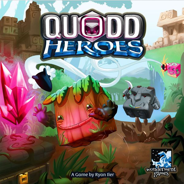 Quodd Heroes Kickstarter board game box