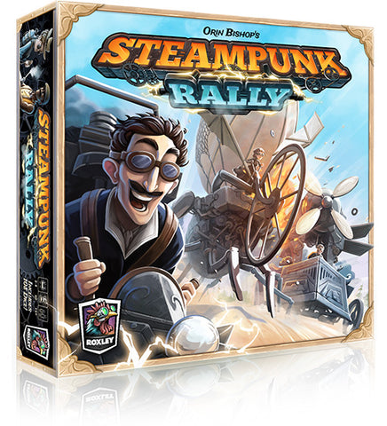 Steampunk Rally board game box