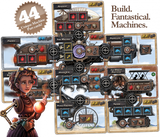 Steampunk rally board game cards