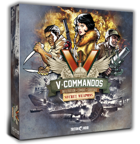 V-Commandos Secret Weapons Triton Noir WW2 board game wargame