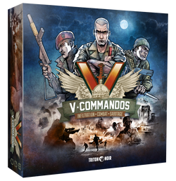 V-Commandos Triton Noir WW2 board game wargame
