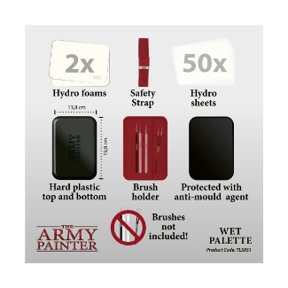 Army Painter Wet Pallet content hydro foam sheets