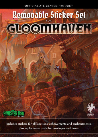 gloomhaven removable sticker set sinister fish free shipping