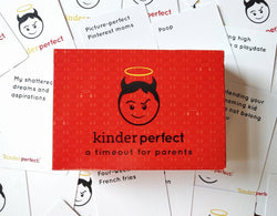 kinderperfect parents adults card party game fun funny box