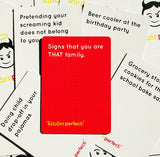 kinderperfect parents adults card party game fun funny cards