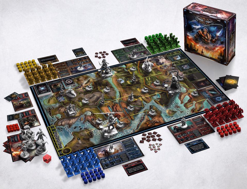 lords of hellas board game open played setup minis