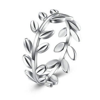 Adorable Leaf 925 Sterling Silver Ring - Jewelpoche