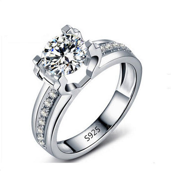 Beautiful 925 Sterling Silver American Diamond Ring
