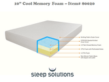 "Cool Memory Foam-Mattress-6""/8""/10"" Medium Sleep Solutions-Twin-6""-Town Sleep"