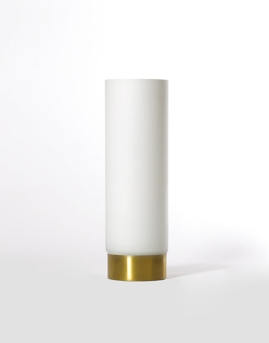 white, frosted glass vase