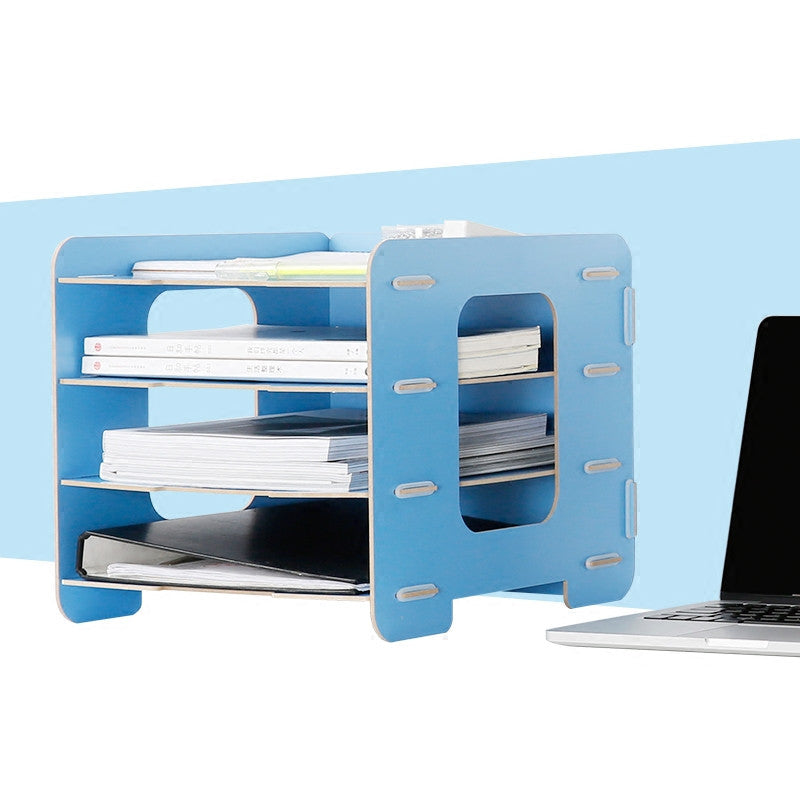 Wooden Office Organizer A4 Paper File Holder
