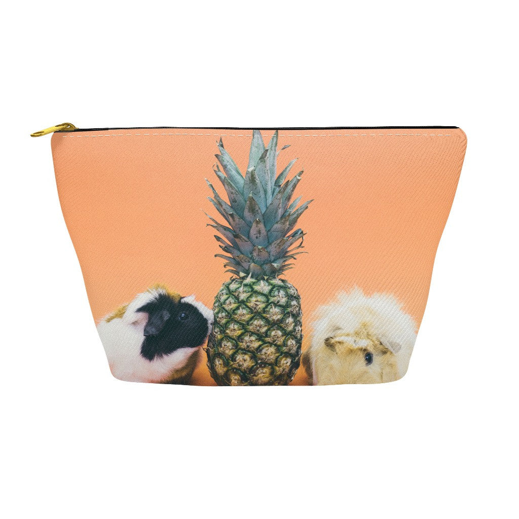 Pencil Case and Accessory Pouch - Guinee Pigs and Pineapple