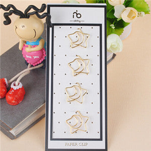 Gold Paper Clips 4/set