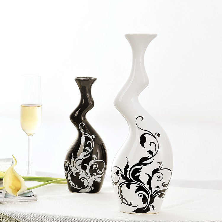 Modern twisted vases