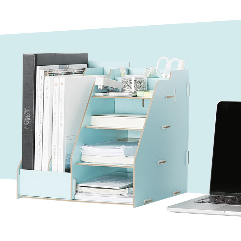 Wooden Multi-Use Desk Organizer and File Holder