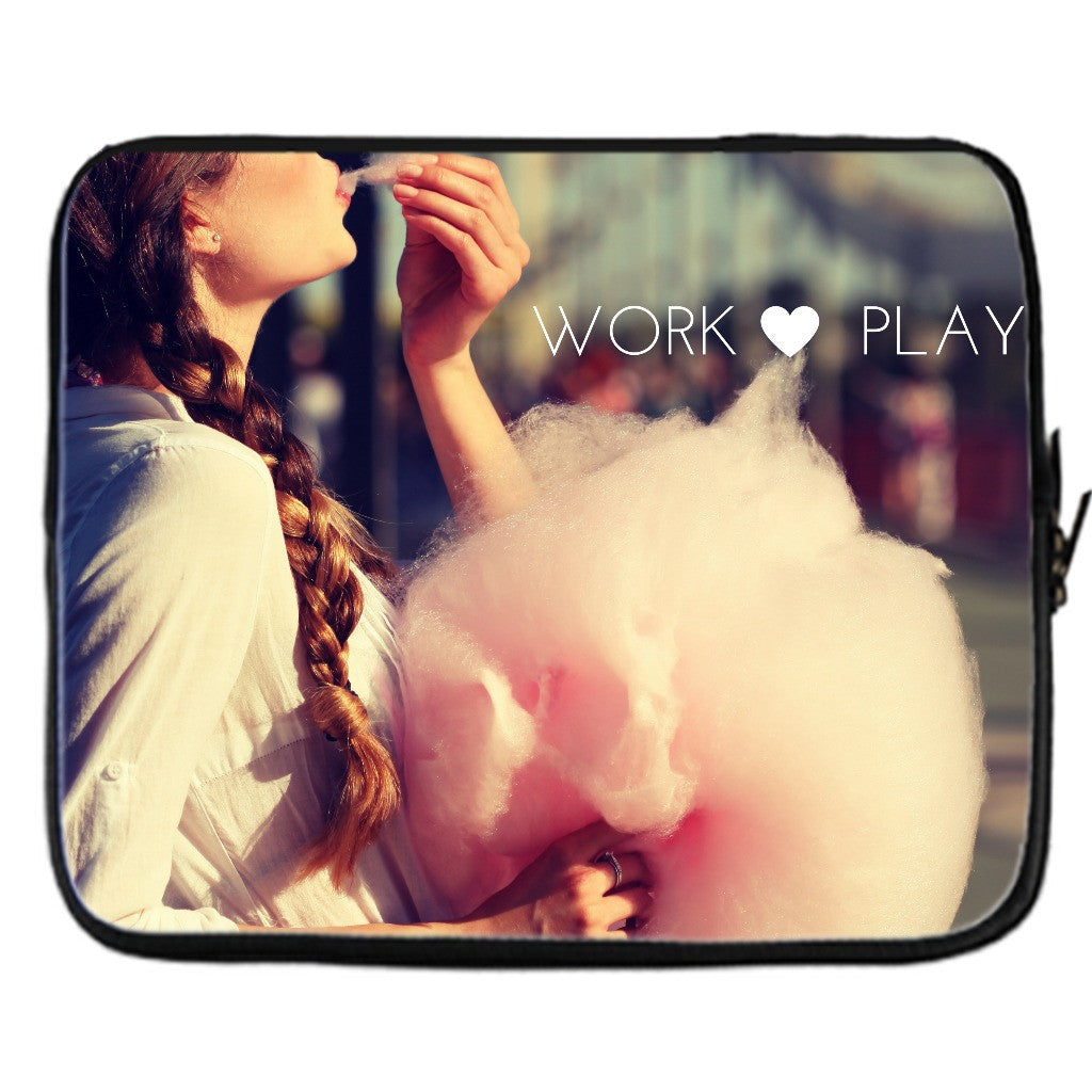 "Laptop Cover - ""Work, Play"""