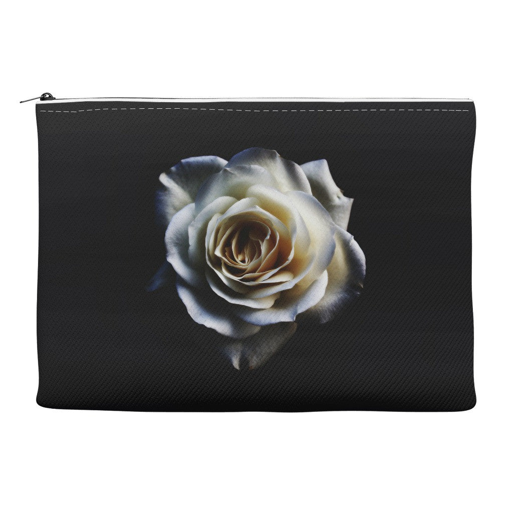 Pencil Case and Accessory Pouch - White Rose