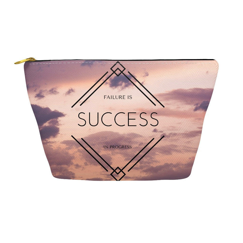 "Pencil Case and Accessory Pouch - ""Failure is Success in Progress"""