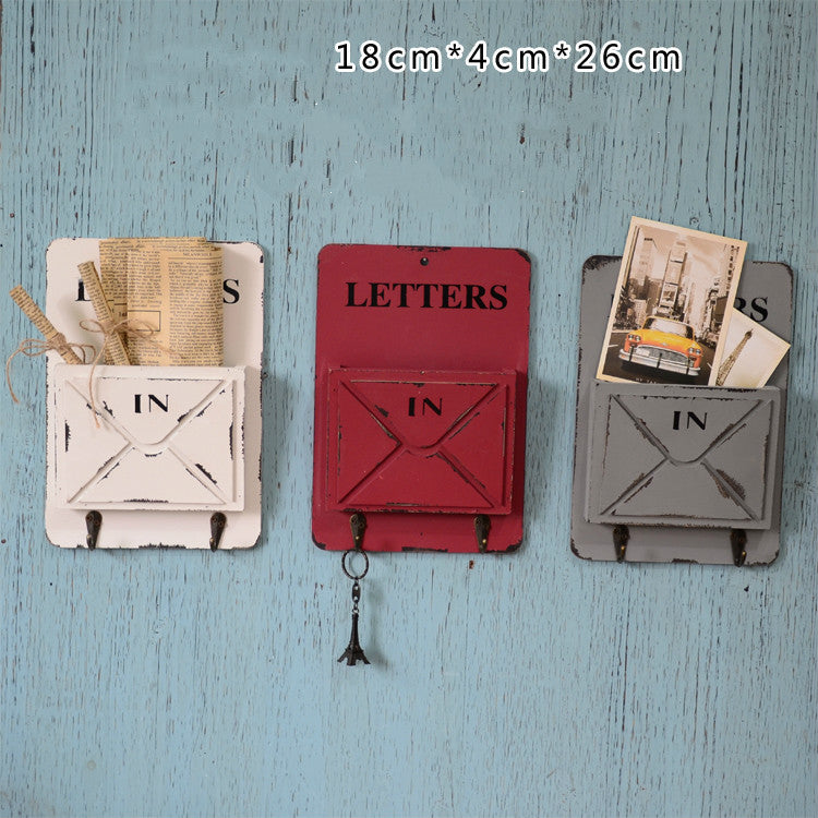 Vintage Wooden Home Office Storage Letter Boxes