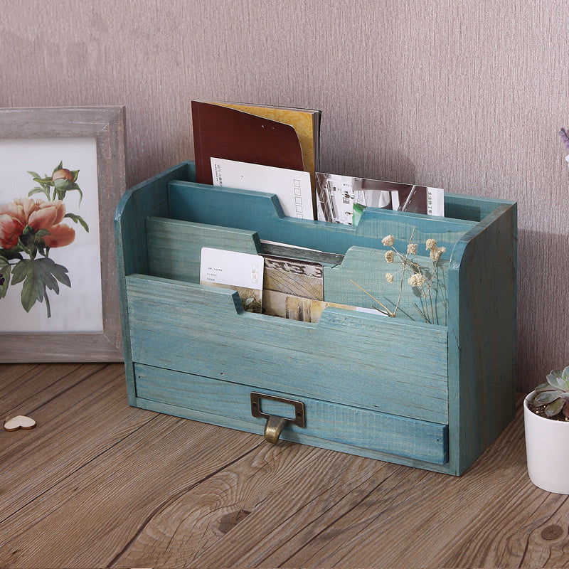 Wooden File Storage Box