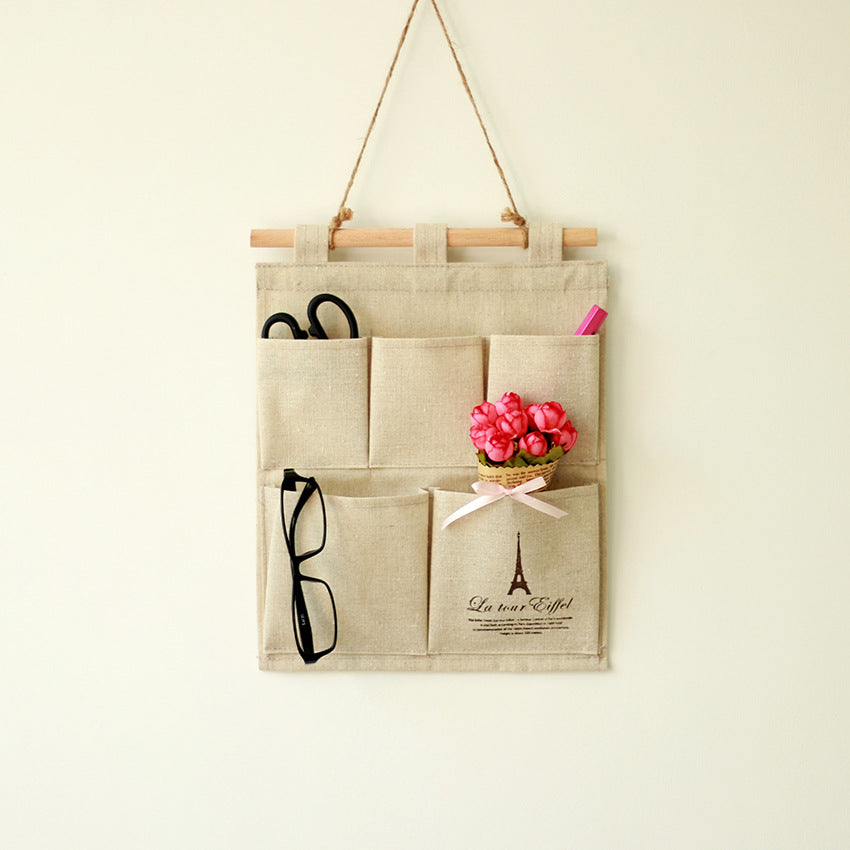 Canvas Cotton Wall Hanging Home Office Storage Bag