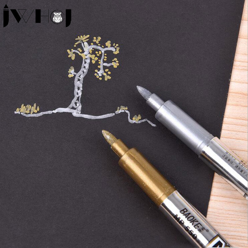 1 x metallic color pen diy album scrap booking invitation gift card photo marker pen