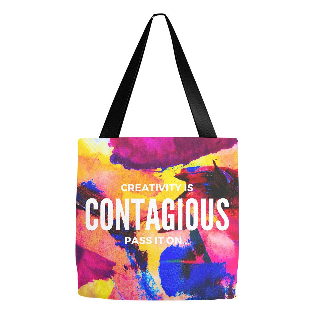 "Tote Bag - ""Creativity Is Contagious, Pass It On"""