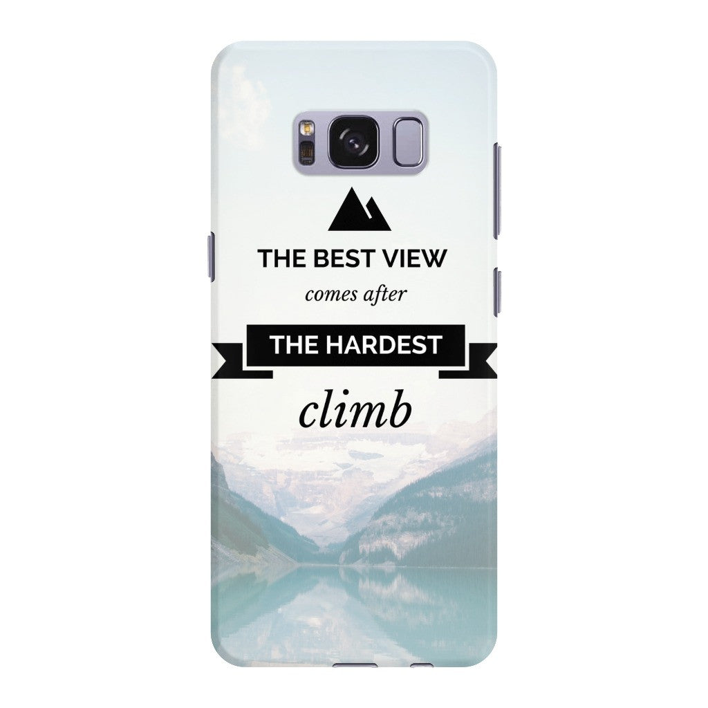 "Phone Case - ""The hardest climb"""