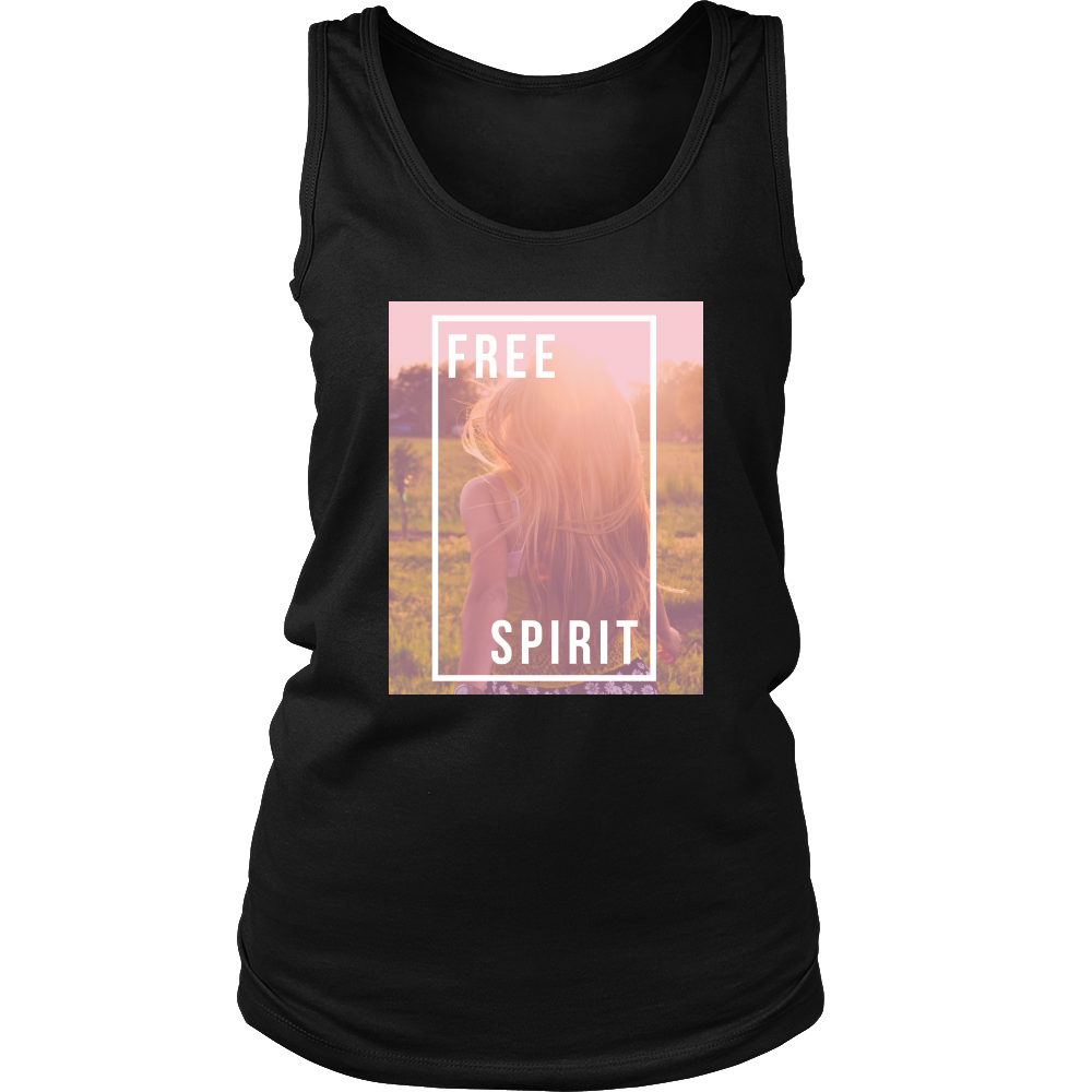 Lux Ambition Racer Back Cotton Tank Top and T-shirt for Women - Free Spirit