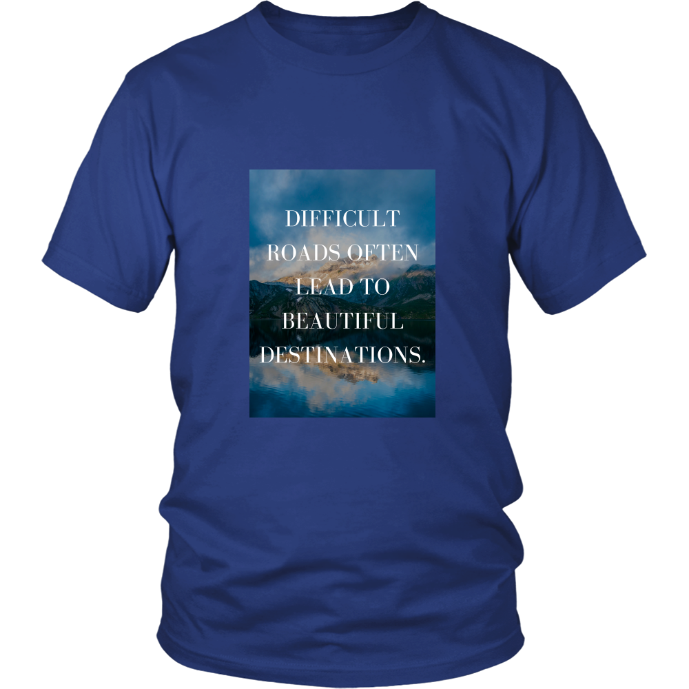 Lux Ambition 100% Cotton Casual Unisex Shirts for Men and Women with Inspirational Quote
