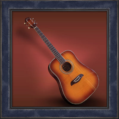 Guitar, 3/4 Size Oscar Schmidt, Yellow Sunburst