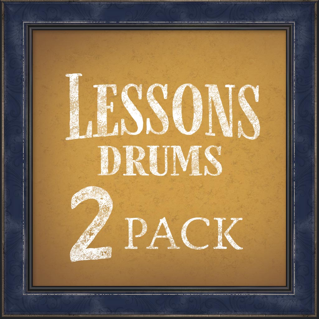 Lessons, Drums, 2 Pack