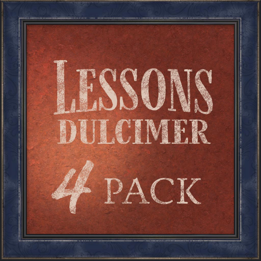 Lessons, Mountain Dulcimer, 4 Pack