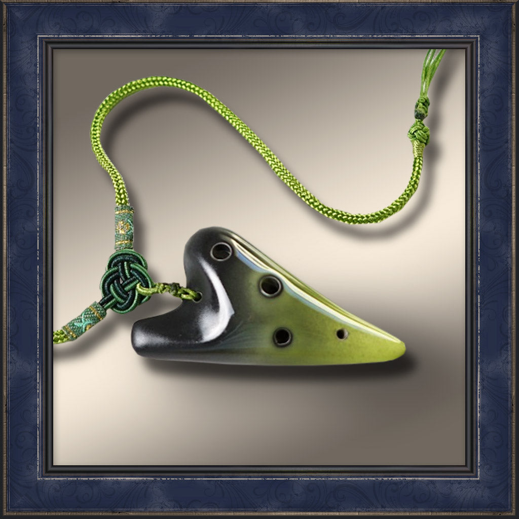 Ocarina - 6 Hole Mini Necklace, Green