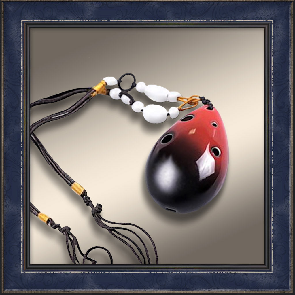 Ocarina Necklace - Red