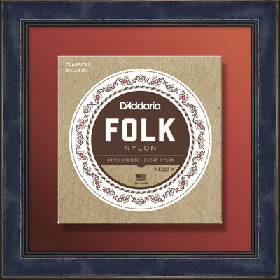 String Set, EJ33 Acoustic Guitar, Folk Bronze-Nylon