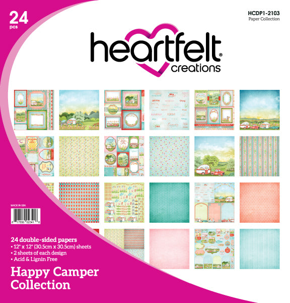 Heartfelt : HCDP1-2103 - Happy Camper Paper Collection