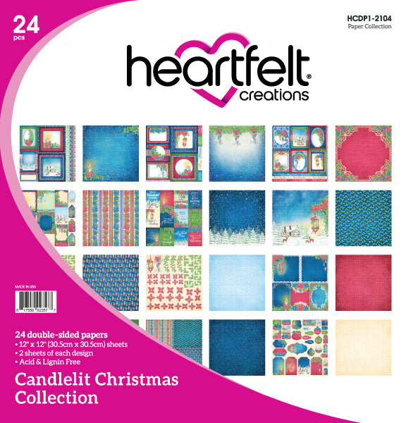 Heartfelt :HCDP1-2104 - Candlelit Christmas Paper Collection