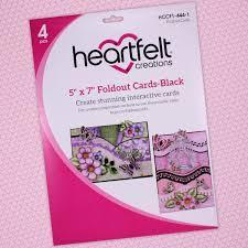 "hccf1-444-1 - 5"" x 7"" Foldout Cards-Black"