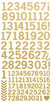 AS265 - Number Stickers - Metallic Gold
