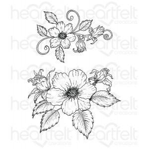 hcpc-3653 - Botanical Rose Bouquet Cling Stamp Set
