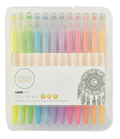 CL101 - Kaisercraft Gel Pen Box 24 - 12 Pastel & 12 Glitter Colours