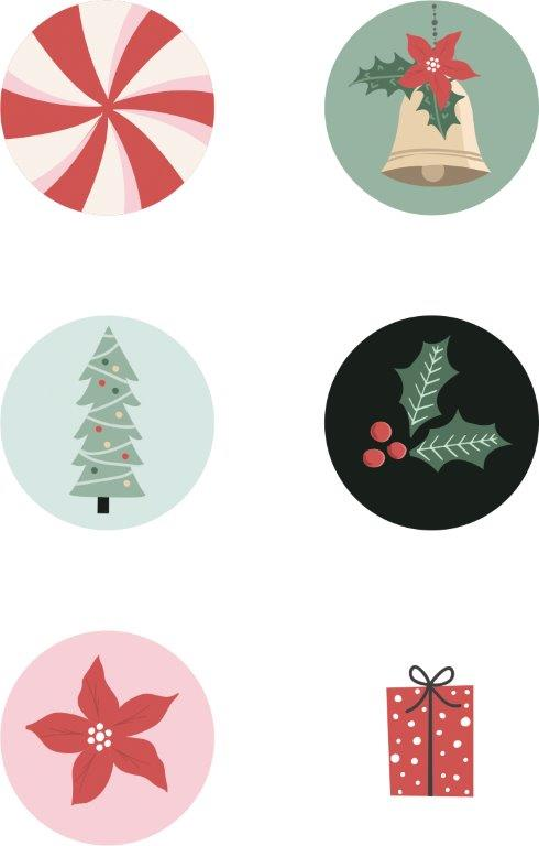 Kaisercraft : CR215 - Peppermint Kisses Curios 6pk