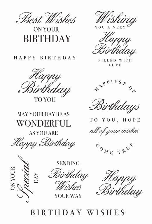 CS362 : Birthday Wishes Clear Stamp