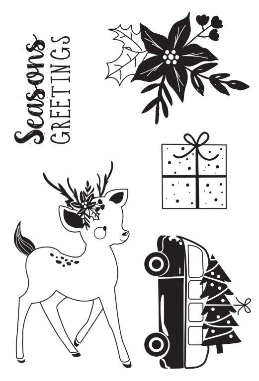 Kaisercraft : CS366 - Peppermint Kisses Clear Stamp