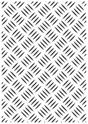 EF209 : Embossing Folder 106x150mm Checker Plate