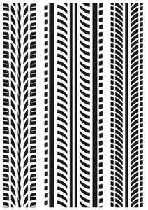 EF288 - Embossing Folder - Tyre Treads