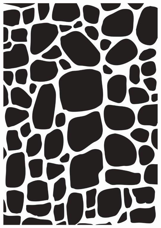 EF299 : Embossing Folder - Cobblestone